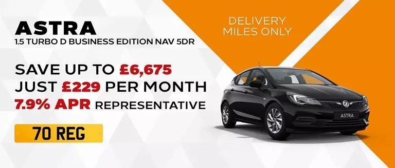 70-REG Astra Business Edition Nav With Delivery Miles Only