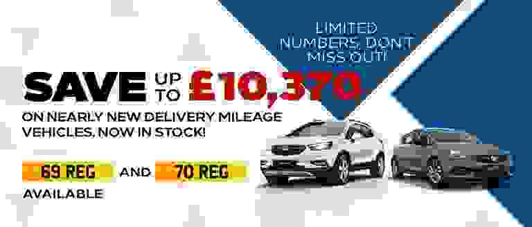 Save Up To £10,370 On Nearly New Delivery Mileage Vehicles