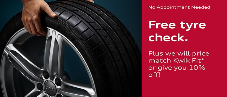 Free Tyre Check From Caffyns Audi