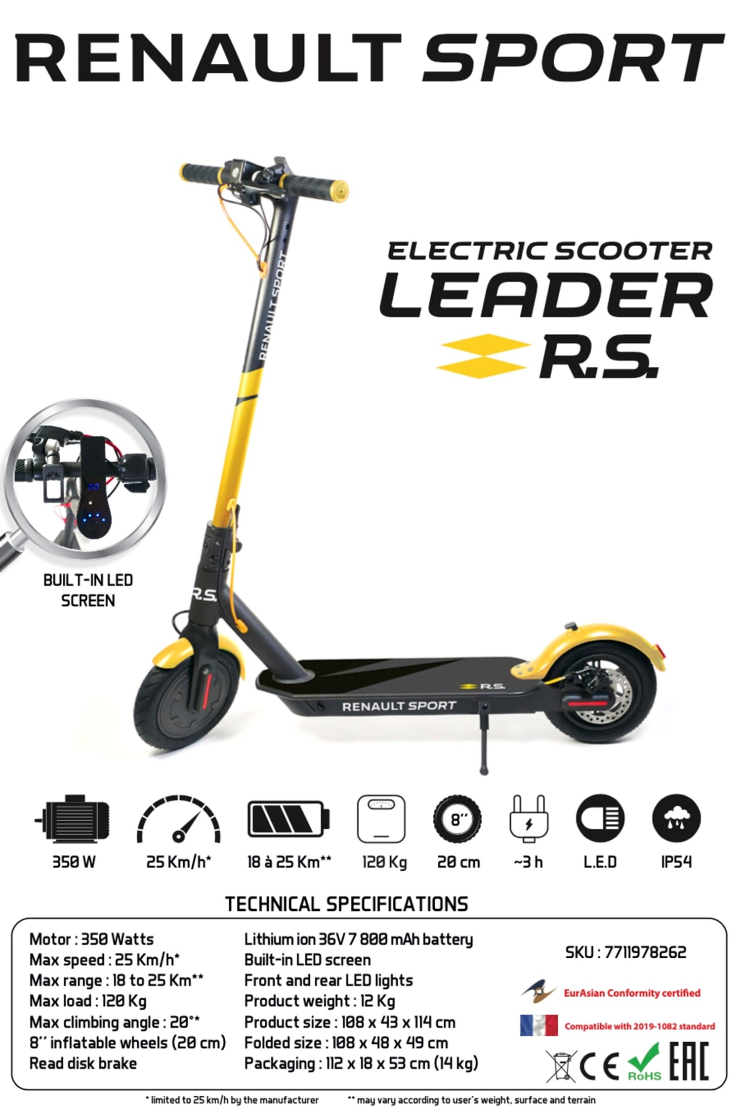 Startin Renault electric scooter