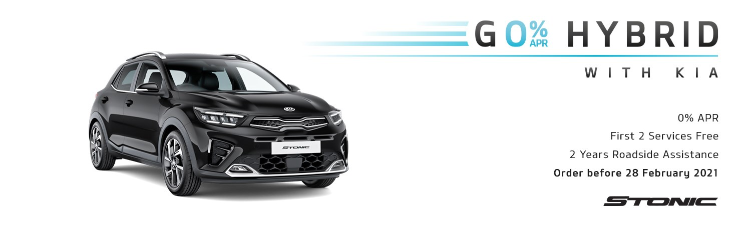 Kia Stonic Go Hybrid First 2 Services Free Q1 2021 offer