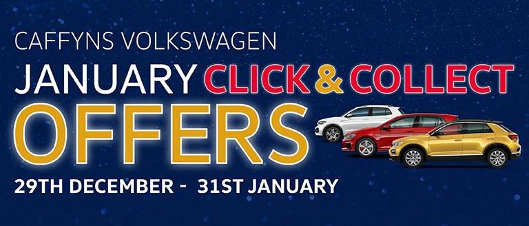 Caffyns Volkswagen January Click & Collect Offers