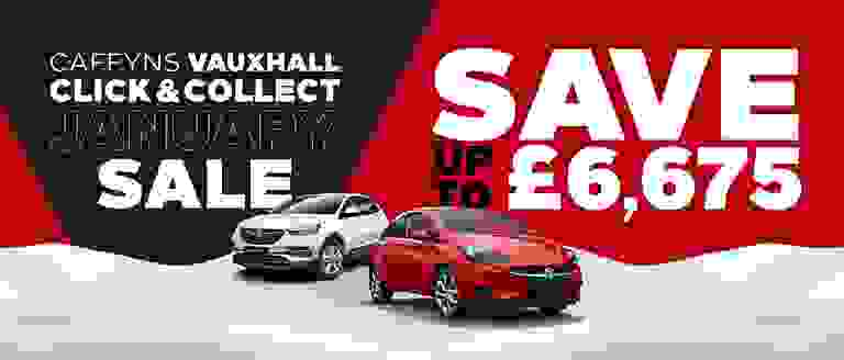 Caffyns Vauxhall Click & Collect January Sale
