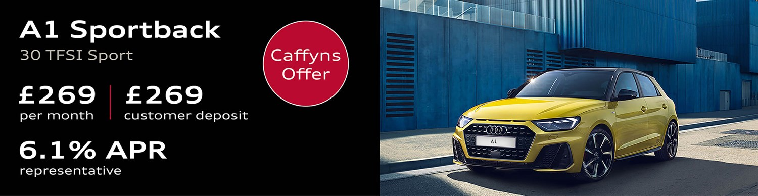 A1 Sportback from £269 per month with £269 customer deposit and 6.1% APR Representative